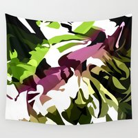 camo Wall Tapestries featuring Camo Flower by Tulipe Studio