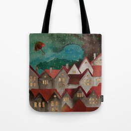 Cozy roof Tote Bag