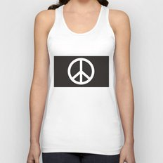 peace symbol flag sign Unisex Tank Top
