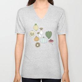 Vegetables (color) Unisex V-Neck