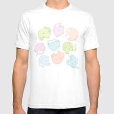 Cat Blobs Cats White Mens Fitted Tee SMALL