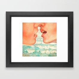 California Kiss Framed Art Print