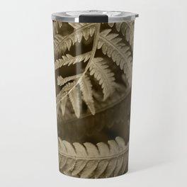 Copper Penny Ferns Glisten Travel Mug