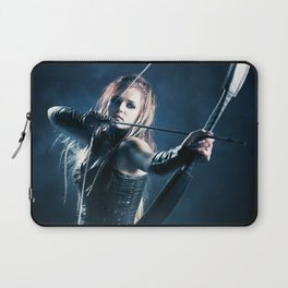 Woman archer aiming arrow Laptop Sleeve