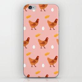 Chickens all around iPhone Skin