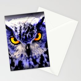 owl look digital painting reacdb Stationery Cards