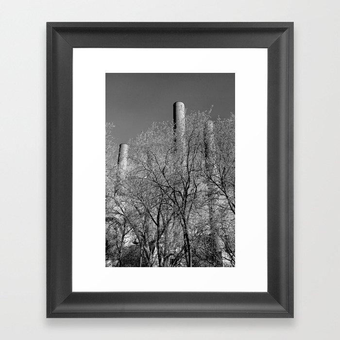 Industrial Chimneys, Minneapolis Framed Art Print