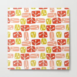 Fresh Abstract Floral Metal Print