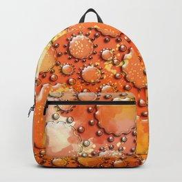 Glass flowers on orange Backpack