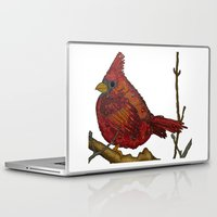 cardinal Laptop & iPad Skins featuring Cardinal by artworkbyemilie