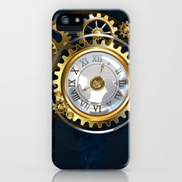 Steampunk Watches and Bulbs iPhone Case