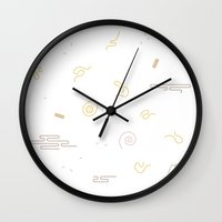 ramen Wall Clocks featuring RAMEN by Design Made in Japan