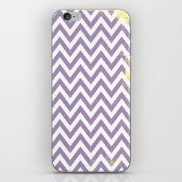 Chevron (Purple and Yellow) iPhone Skin