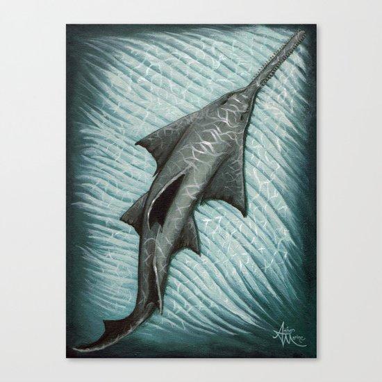 """Sawfish"" by Amber Marine ~ Acrylic Painting, (c) 2015 Canvas Print"