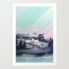 Alpine Island Art Print