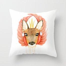 Roe deer Throw Pillow