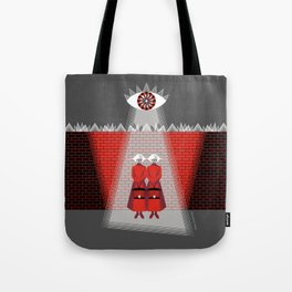 The Wall - The Red Handmaid Collection by ©2018 Balbusso Twins Tote Bag