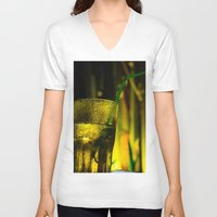 cocktail V-neck T-shirts featuring cocktail glass by Eduard Leasa Photography