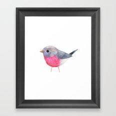 Rose Robin Framed Art Print