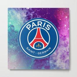 Paris Saint Germain Galaxy Design Metal Print