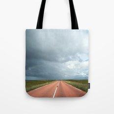 red roads ahead Tote Bag