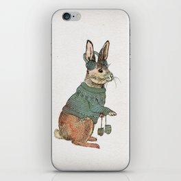Winter Rabbit iPhone Skin