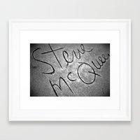 steve mcqueen Framed Art Prints featuring McQueen by Michael Buckner
