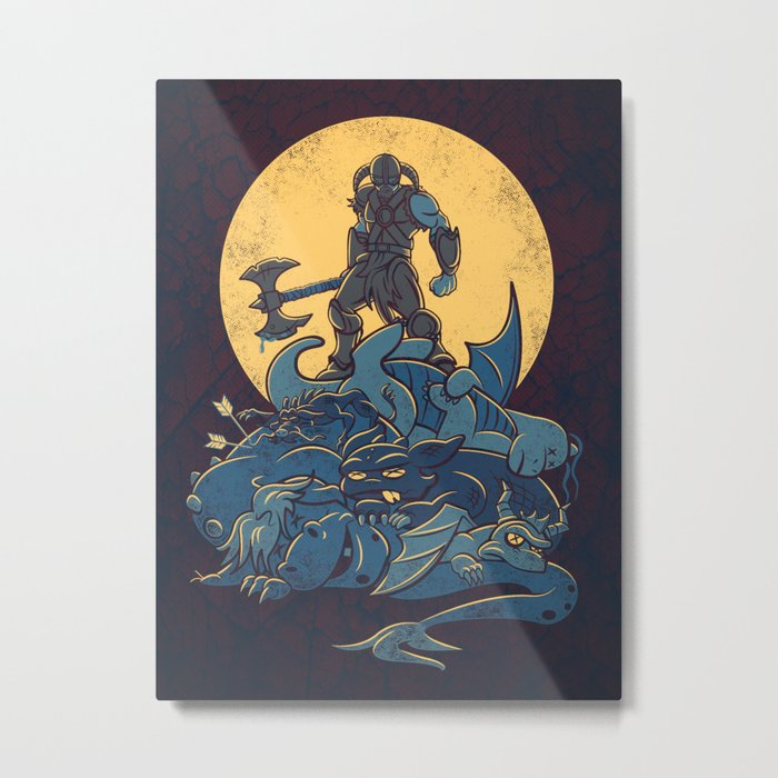 The Dragon Slayer Metal Print