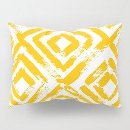 Amber Yellow Geometric Print Pillow Sham
