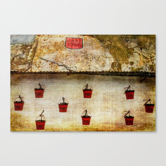 Gibraltar Fire Buckets Canvas Print