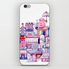 Snowman Town No.3 iPhone Skin