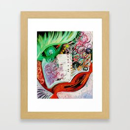 Fall In Love With Herself Framed Art Print