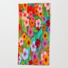 Colorful Hibiscus Beach Towel