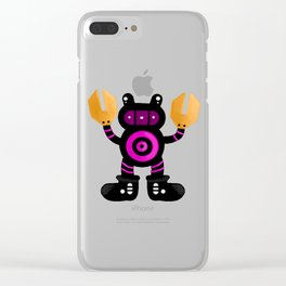 Robot Raccoon Clear iPhone Case