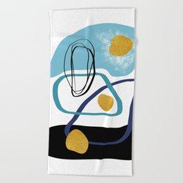 Modern minimal forms 10 Beach Towel