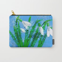 Digital Watercolor snowdrops Carry-All Pouch