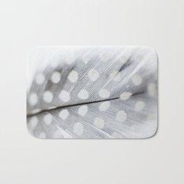 Polka Dot Feather Bath Mat
