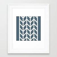 herringbone Framed Art Prints featuring Herringbone by Sara Nolin