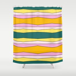 Colorful Striped Design Lines Shower Curtain