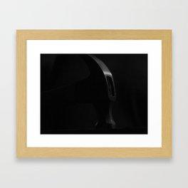 silence falls Framed Art Print