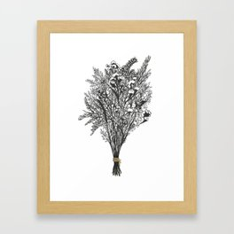 Dry Bouquet with Gold String Framed Art Print