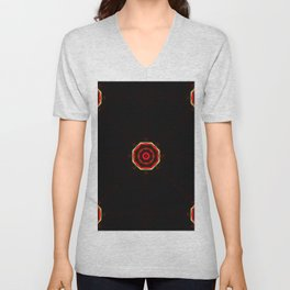 Abstract figures of circular shapes on black background Unisex V-Neck