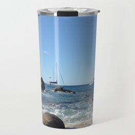 Sailing Boats at the Baths, BVI Travel Mug