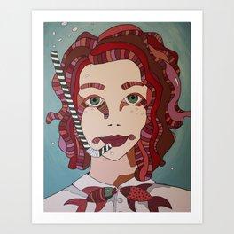 Bubbled Mind Art Print