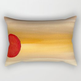 Acrylic Abstract Painting Sunny Day Rectangular Pillow