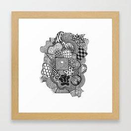 Doodle Three Framed Art Print