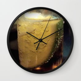 frosty beer n bubbles w lime Wall Clock