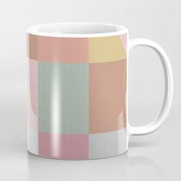 Earthy Pastels Geometric Pattern Coffee Mug