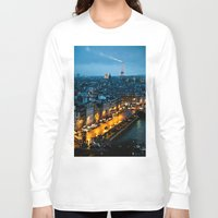 paris Long Sleeve T-shirts featuring Paris by Luca Spanu