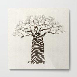 Zebra Tree Metal Print